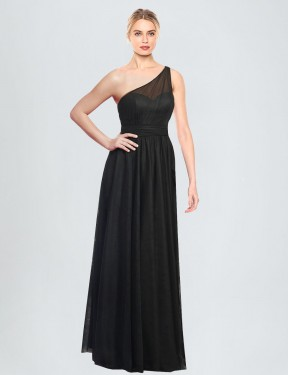 Best A-Line One Shoulder  Sleeveless Tulle Bridesmaid Dress Toronto