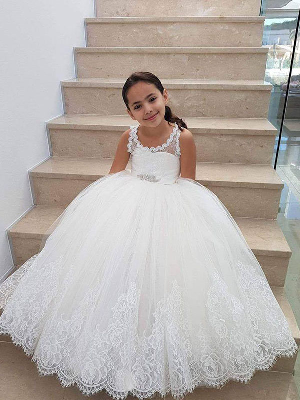 Ivory Ball Gown  Lace & Tulle Flower Girl Dress Toronto