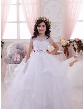 Ivory Ball Gown Sweetheart  Lace & Tulle Flower Girl Dress Toronto